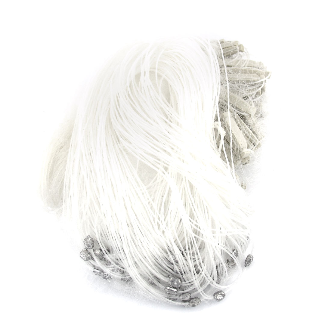 25m x 1.5m Fishing Fish Gill Monofilament Net Mesh White w Floats