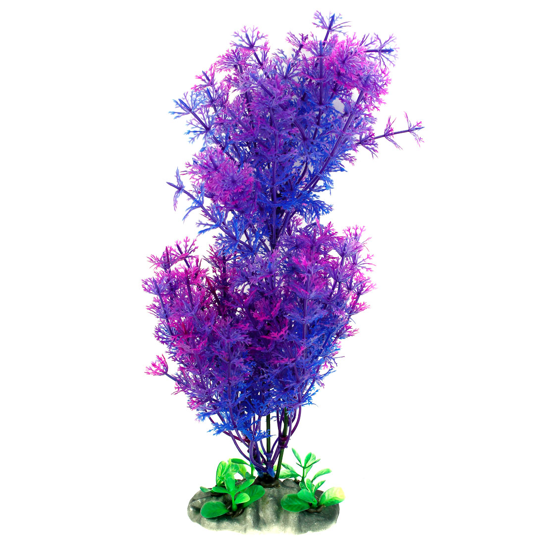 "Fish Tank Aquarium Decorative Emulational Plastic Plant Blue Purple 11.4"" High"