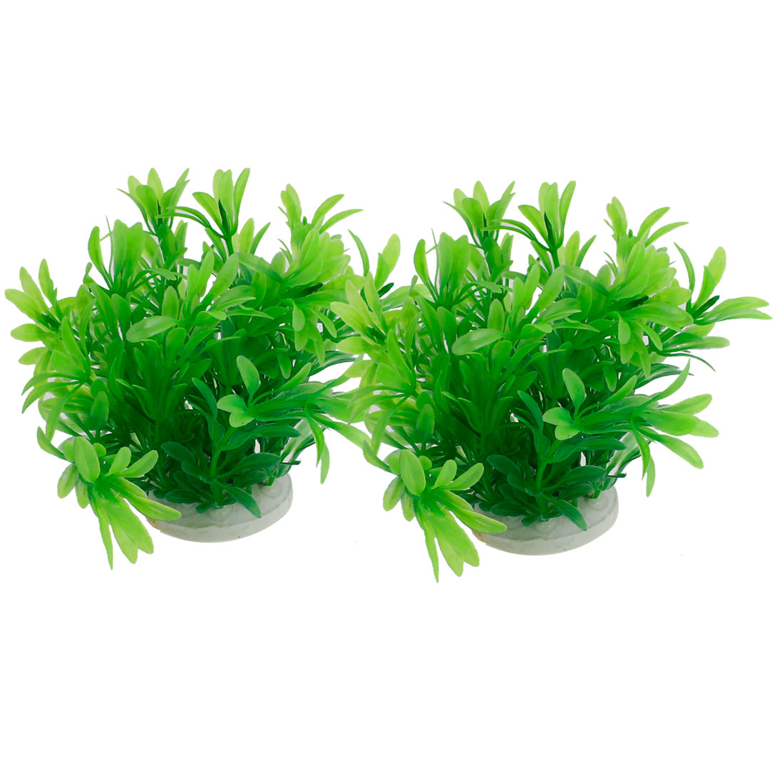 2PCS Manmade Plastic 10cm High Grass Plants Green for Fish Tank Aquarium