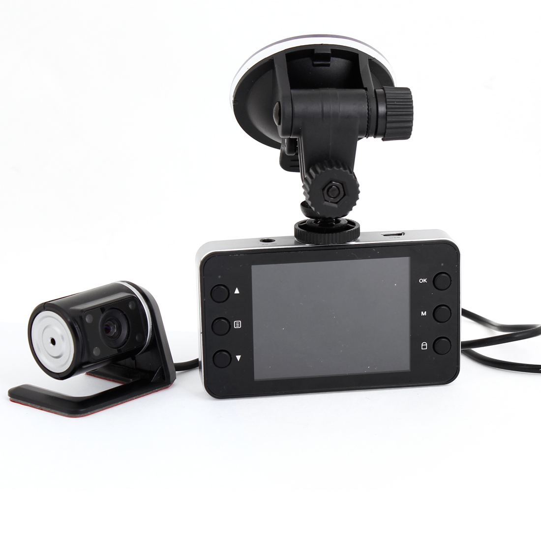 "Front Rear Dual Lens 2.4"" LTPS Screen Car Vehicle Camera DVR Recorder 720P"
