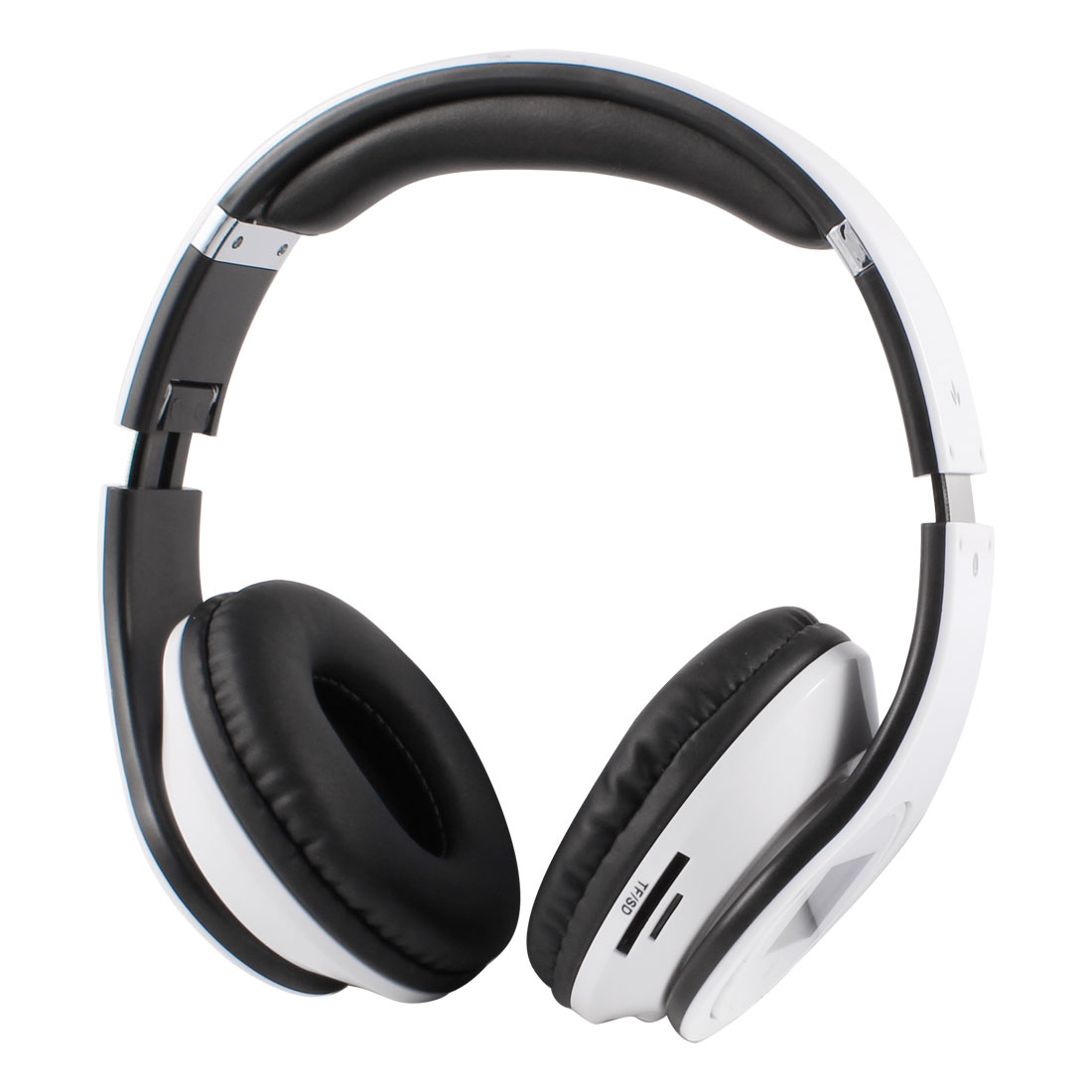 White Wireless Stereo SD TF Mp3 Card bluetooth Headphone w USB Cable