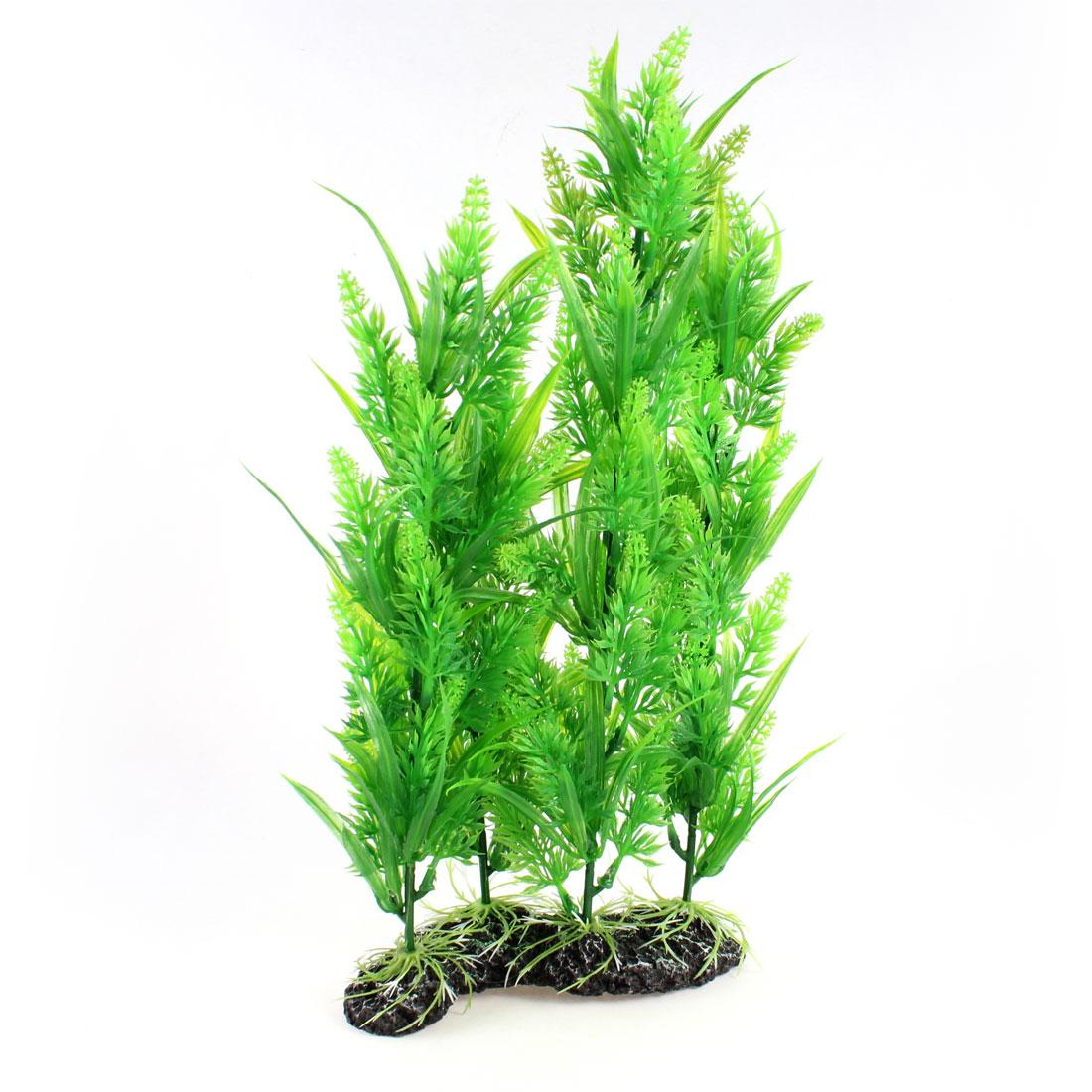 """Aquarium Fish Tanks Plastic Underwater Plant Ornament Green 15.7"""" High"""