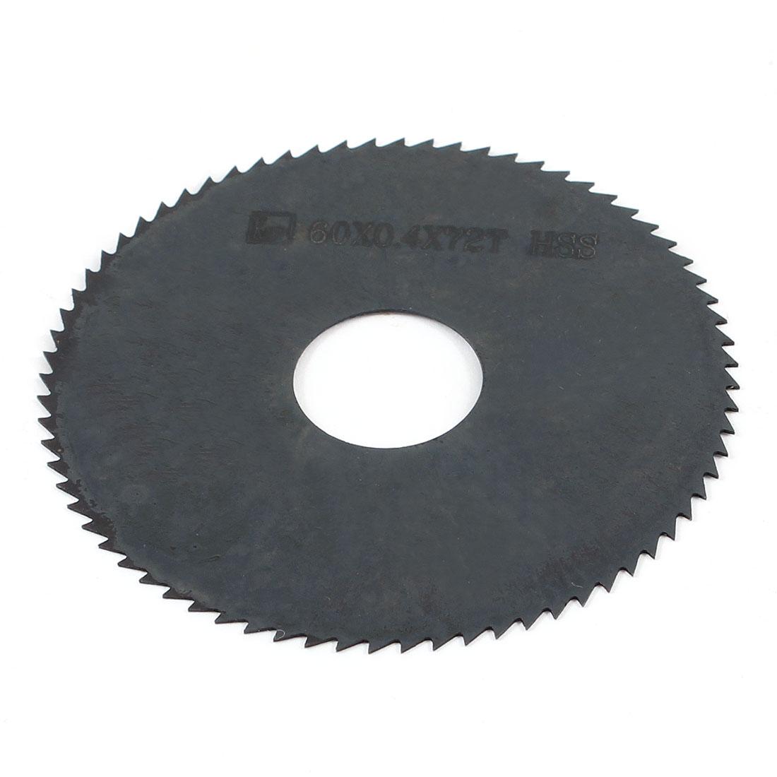 Hand Tool 60mm x 16mm x 0.4mm 72 Peg Teeth HSS Slitting Saw Cutter