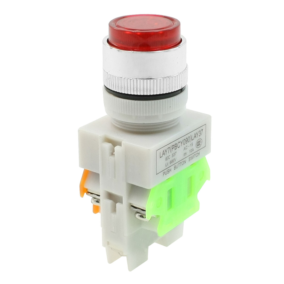 Emergency Stop Red Mushroom Type Push Button Switch DPDT 660V 10A