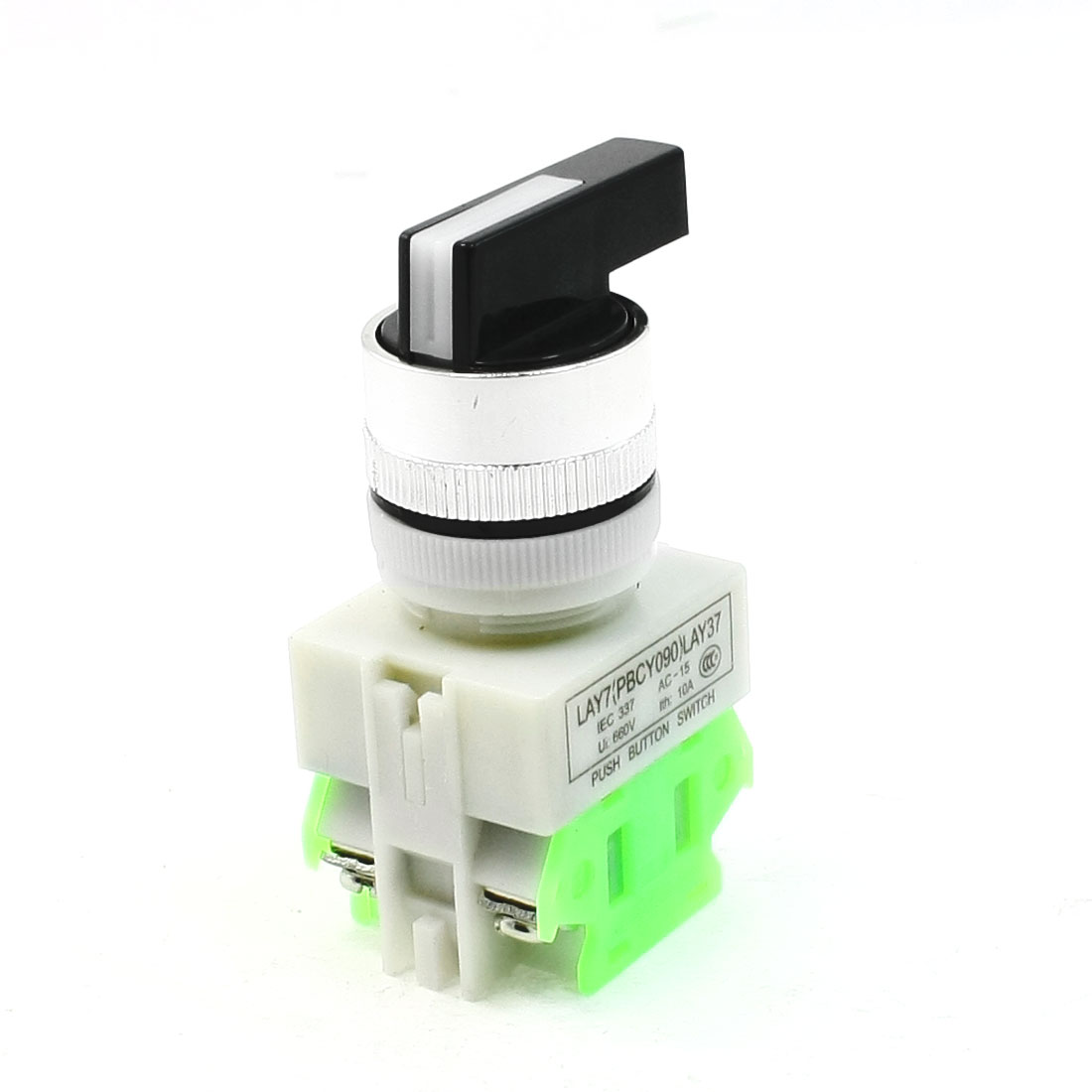 AC 660V 10A DPST 3 Position Rotary Selector Self-Locking Button Switch