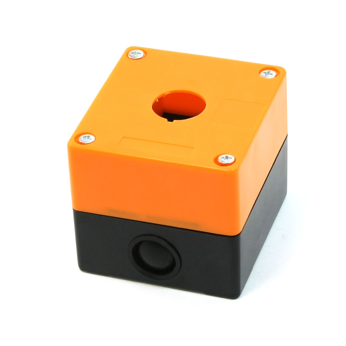 Black Orange Plastic Controlling Station 1 Hole Push Button Swith Case Box