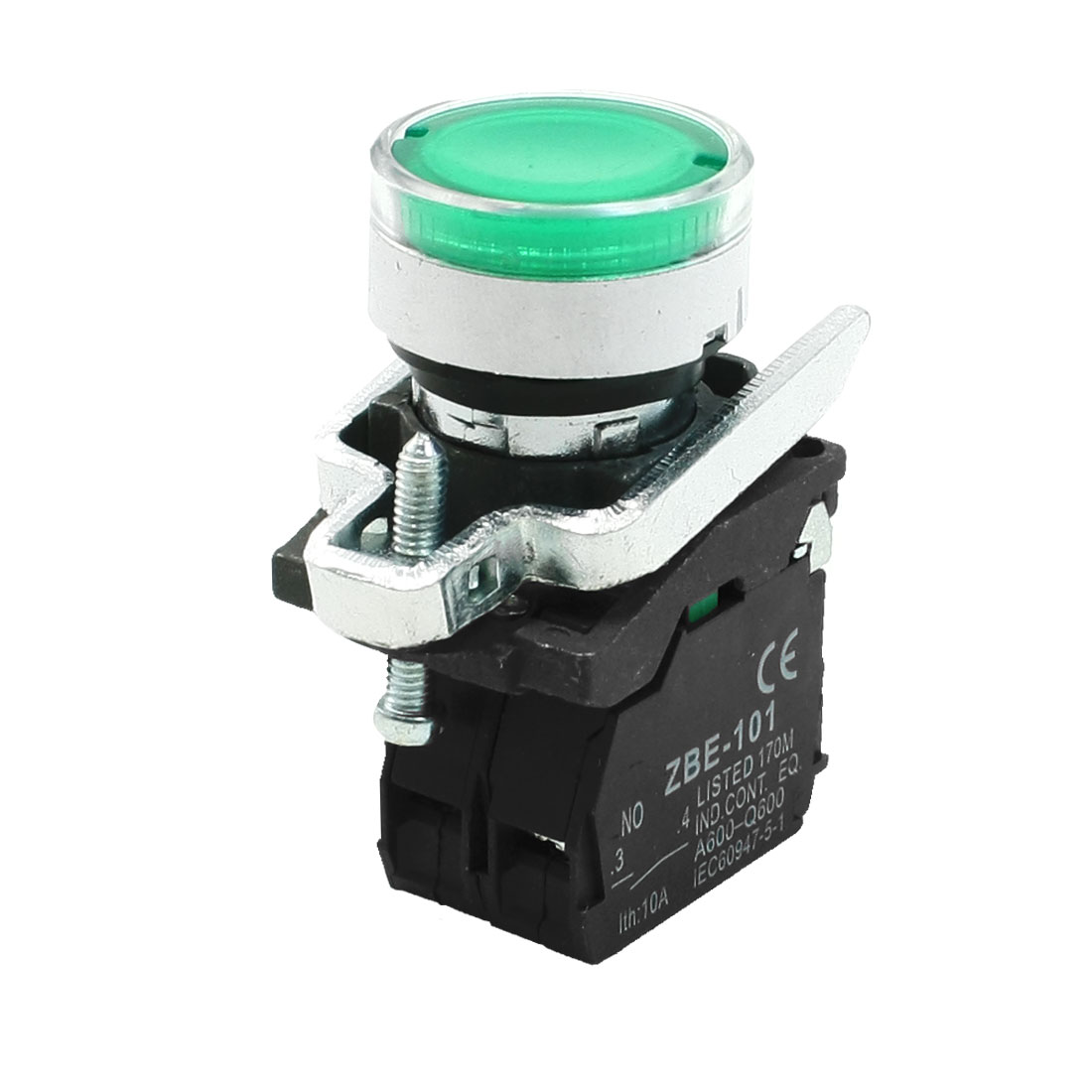 Green Flat Push Button Momentary Switch Ith10A DPST ZBE-101