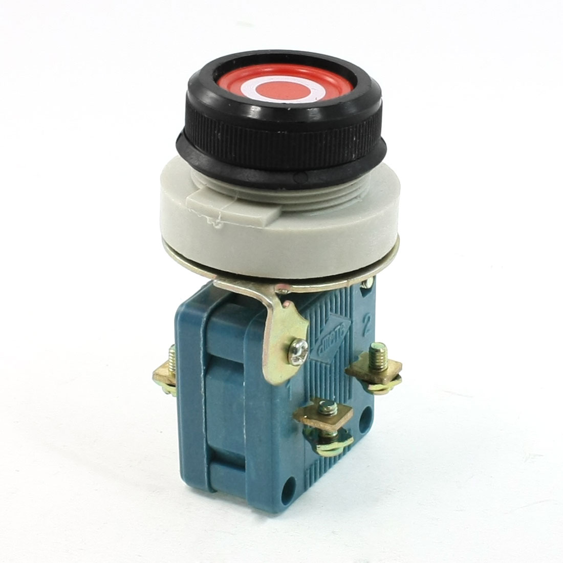AC 380V 10A 1NO 1NC DPST Momentary Flat Round Push Button Switch