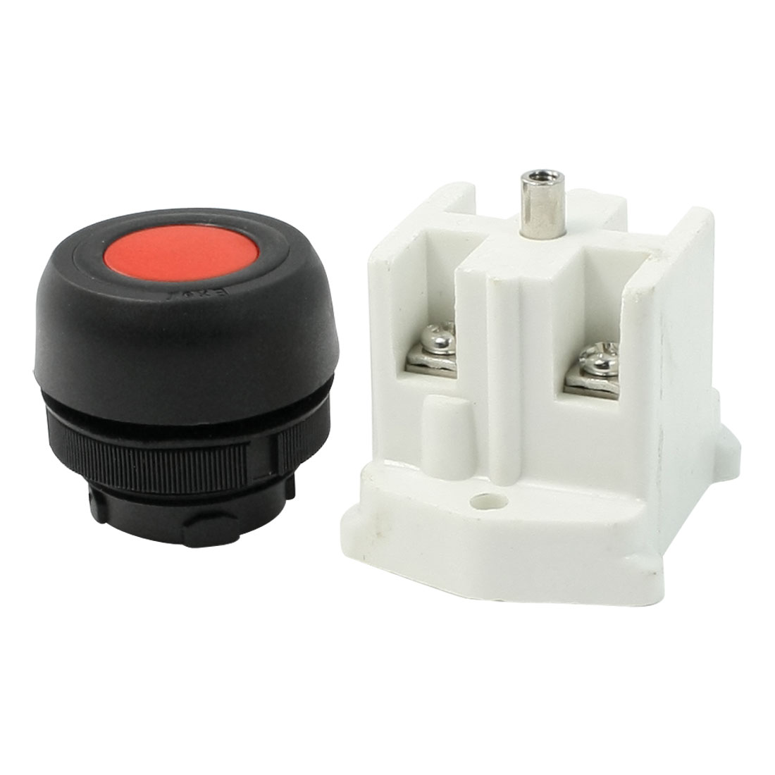AC 380V 10A DPST Momentary Red Round Head Push Button Switch