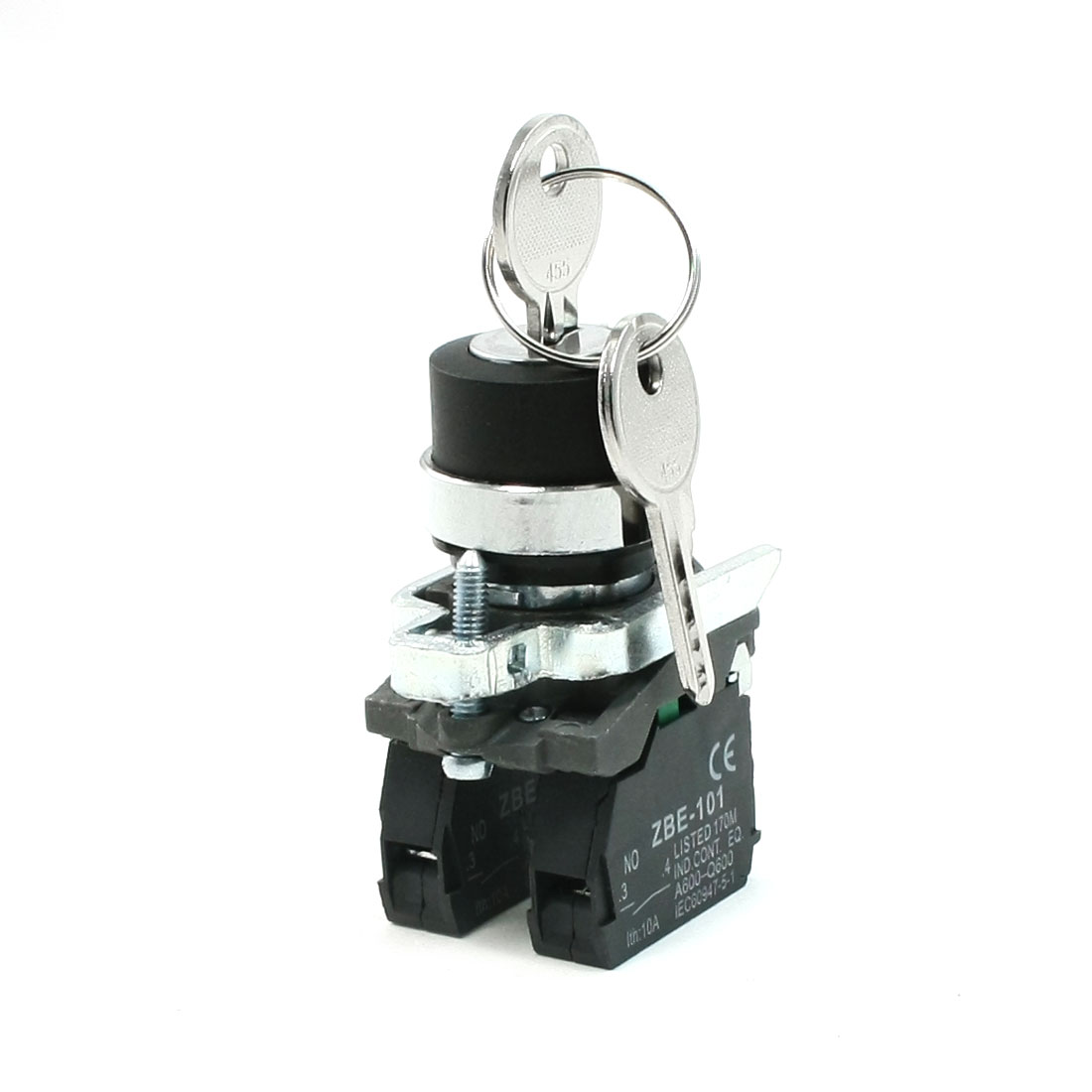 AC 240V 6A NO Key Rotary Key Locking Style Push Button Switch ZBE-101
