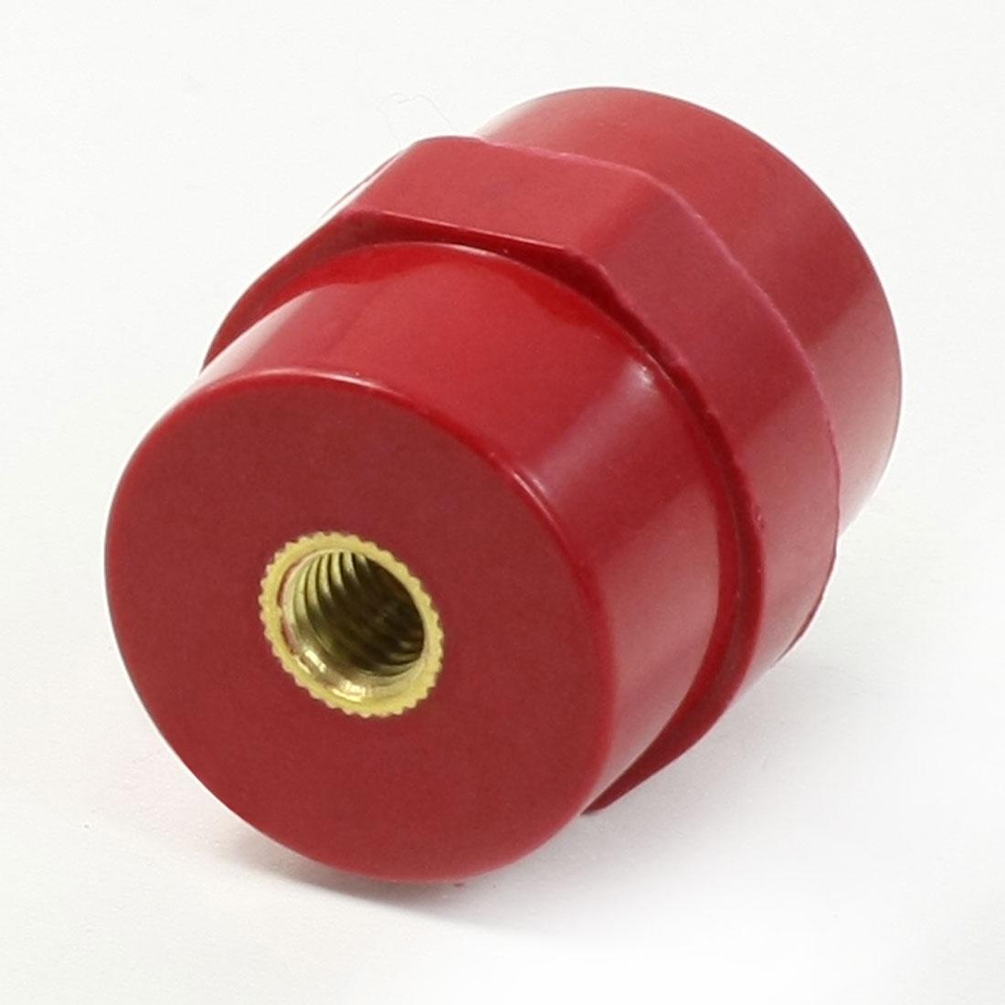 "0.25"" Brass Thread Red Busbar Support Enhanced Insulator Connector"