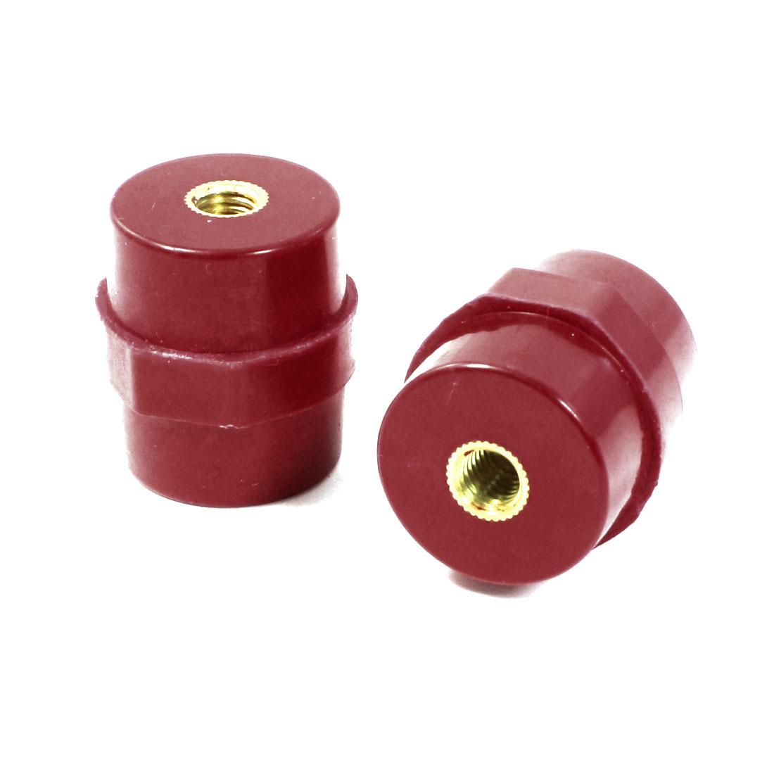 "0.27"" Brass Thread Red Busbar Support Enhanced Insulator Connector"
