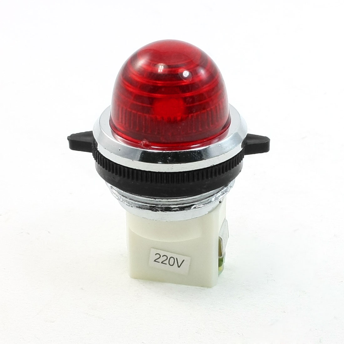 Pilot AC 220V 27mm Thread Mounted Red Light Signal Indicator Lamp