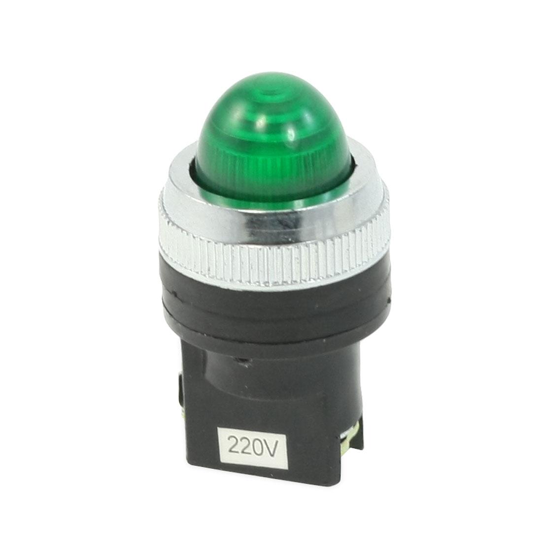 AC 220V Green Power Indicator Pilot Signal Light Lamp