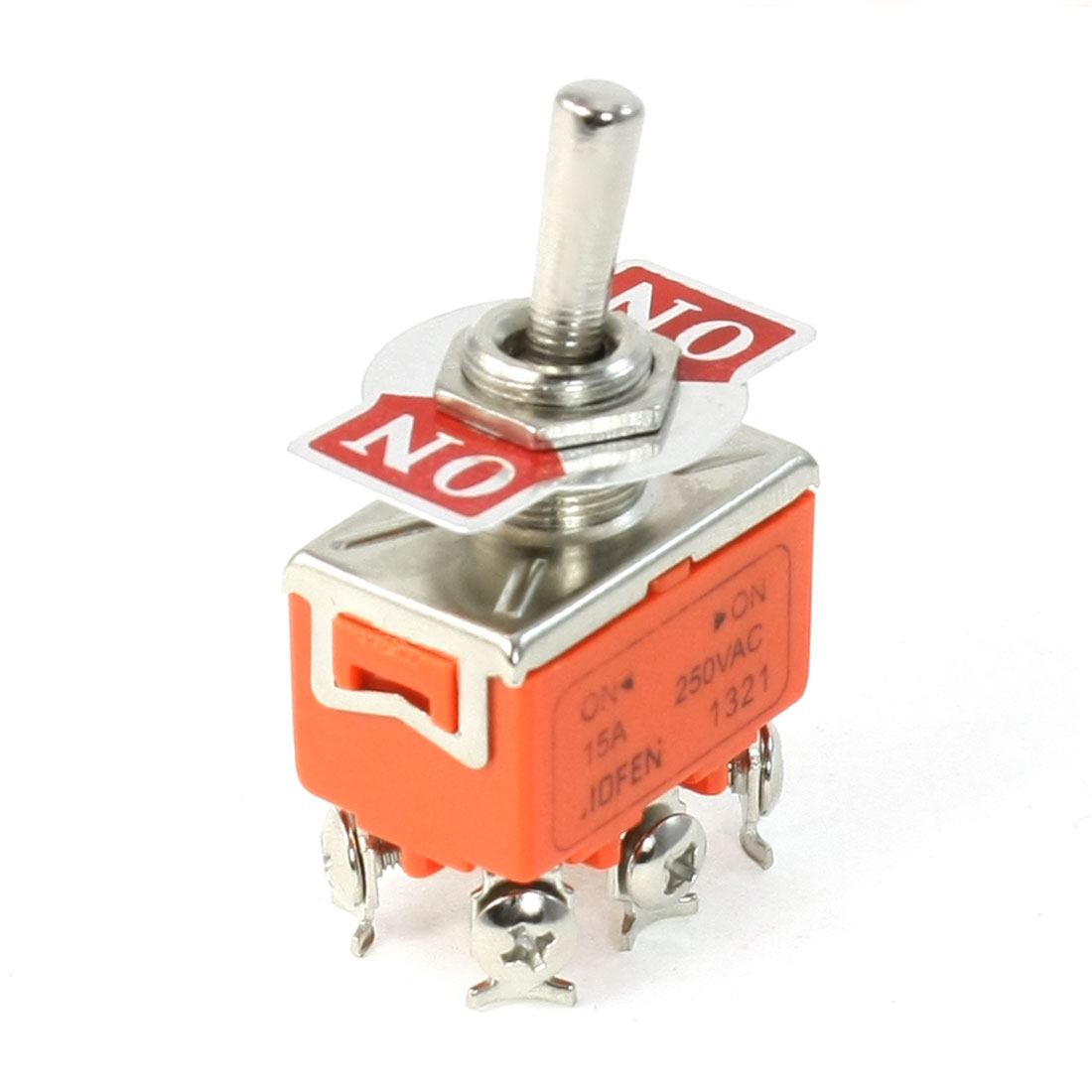 AC 250V 15A On/On 2 Position DPDT 6 Terminals Toggle Switch