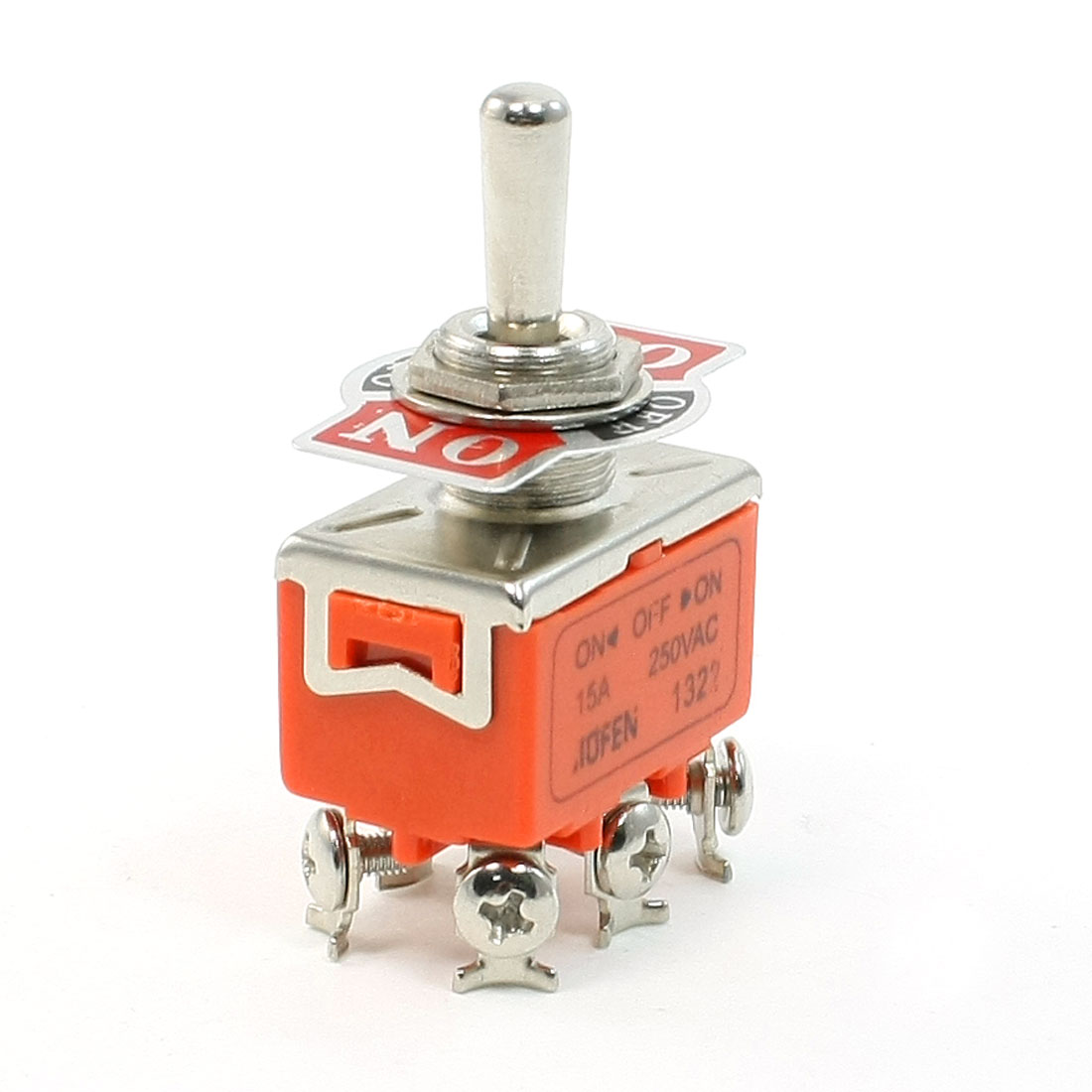 AC 250V/15A On/Off/On 3 Position 6 Terminals DPDT Toggle Switch