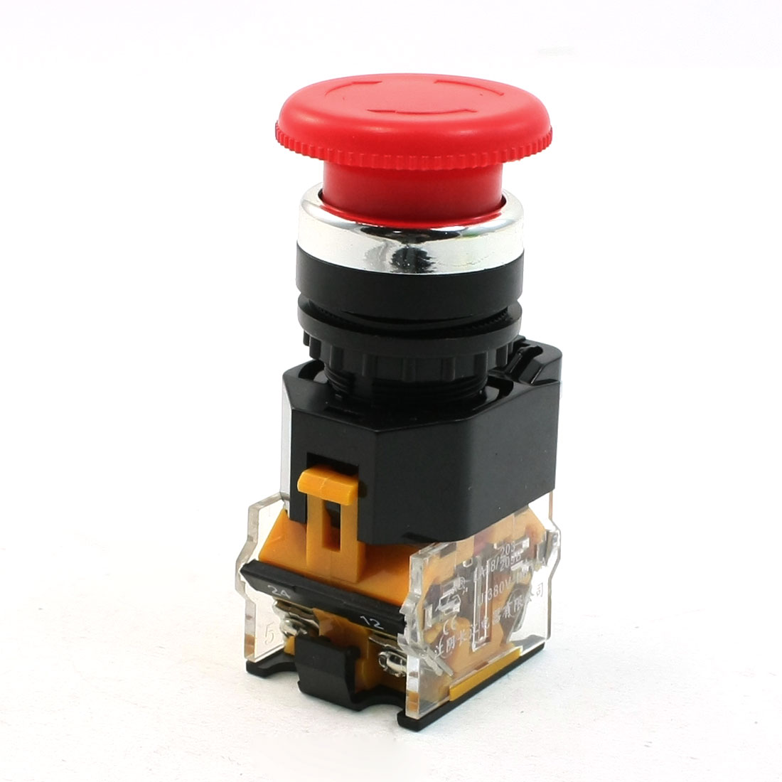 380V 10A Emergency Stop Red Mushroom Type Push Button Switch