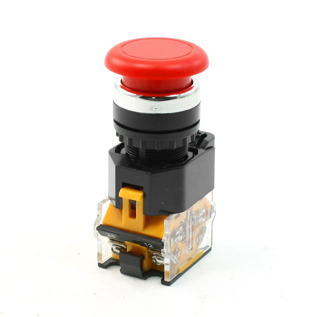 Red Sign Mushroom Push Button Emergency Stop Switch 380V 10A