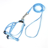 """Blue White Doggie Rope Adjustable Dog Harness Halter Leash Set 46.5"""" Long"""