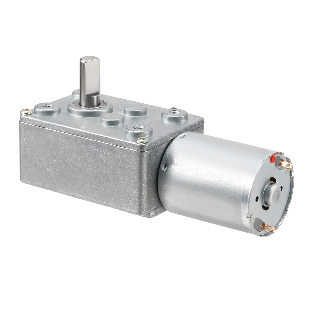 DC 12V 9RPM 6mm Shaft High Torque Turbine Worm Geared Motor