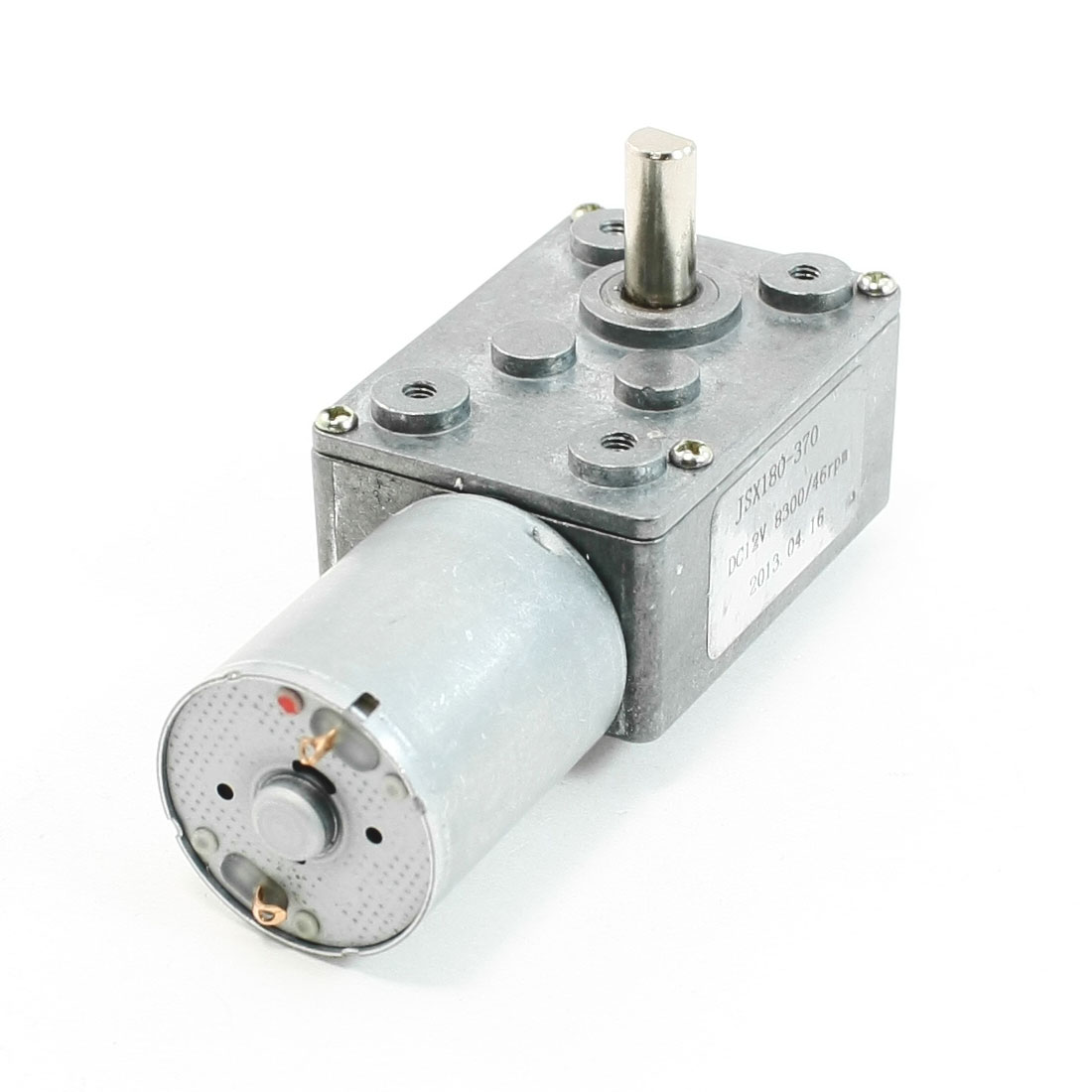 DC 12V 8300/46RPM Output Speed 2 Terminals Connecting 6mm Drive Shaft Geared Motor