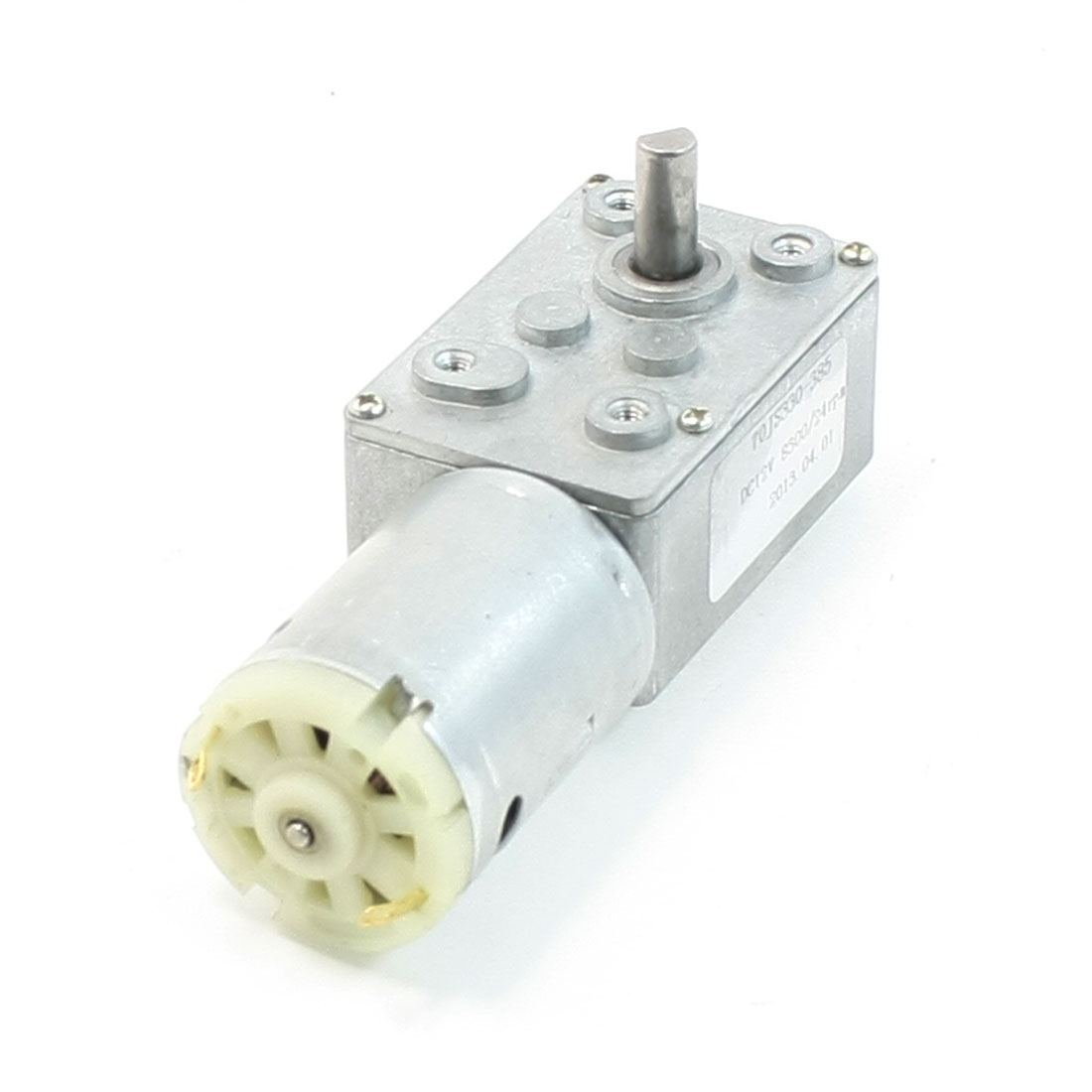 Rectangle Shaped Gear Box 2 Terminal Electric Geared Motor DC 12V 8300/24RPM