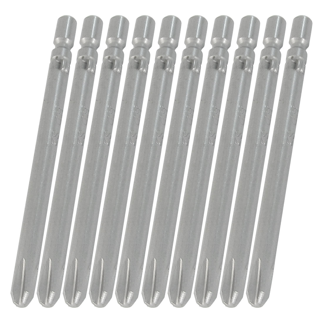 "4mm Bit Diameter 2.4"" Length Magnetic Cross Head Screwdriver Bits 10 Pcs"