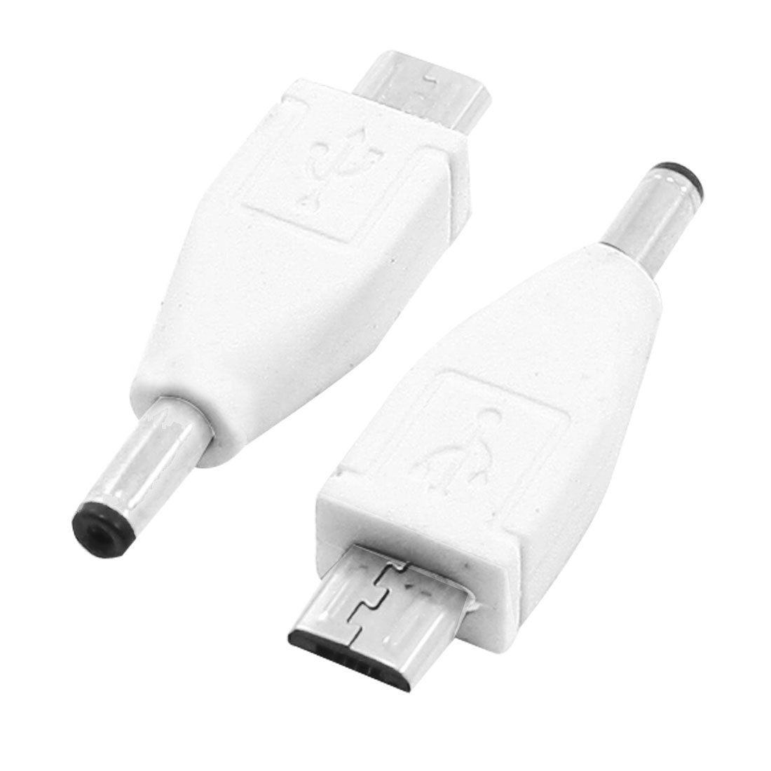 2 Pieces DC 3.5mm Male to B Type Micro USB Male Power Charger Adapter