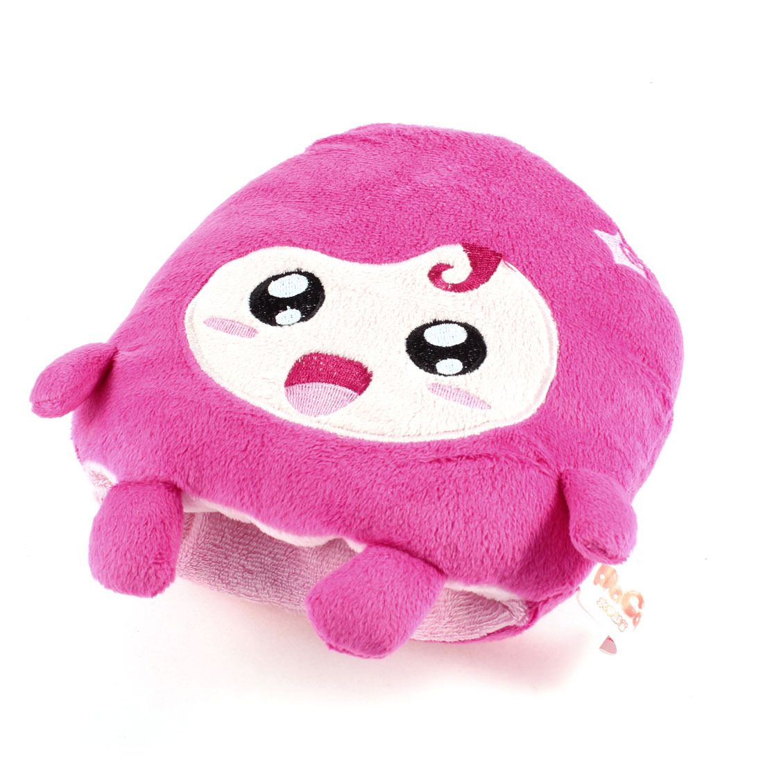 Winter Fuchsia Cartoon Animal Shape Plush Wrist Warmer Cuff for Lady