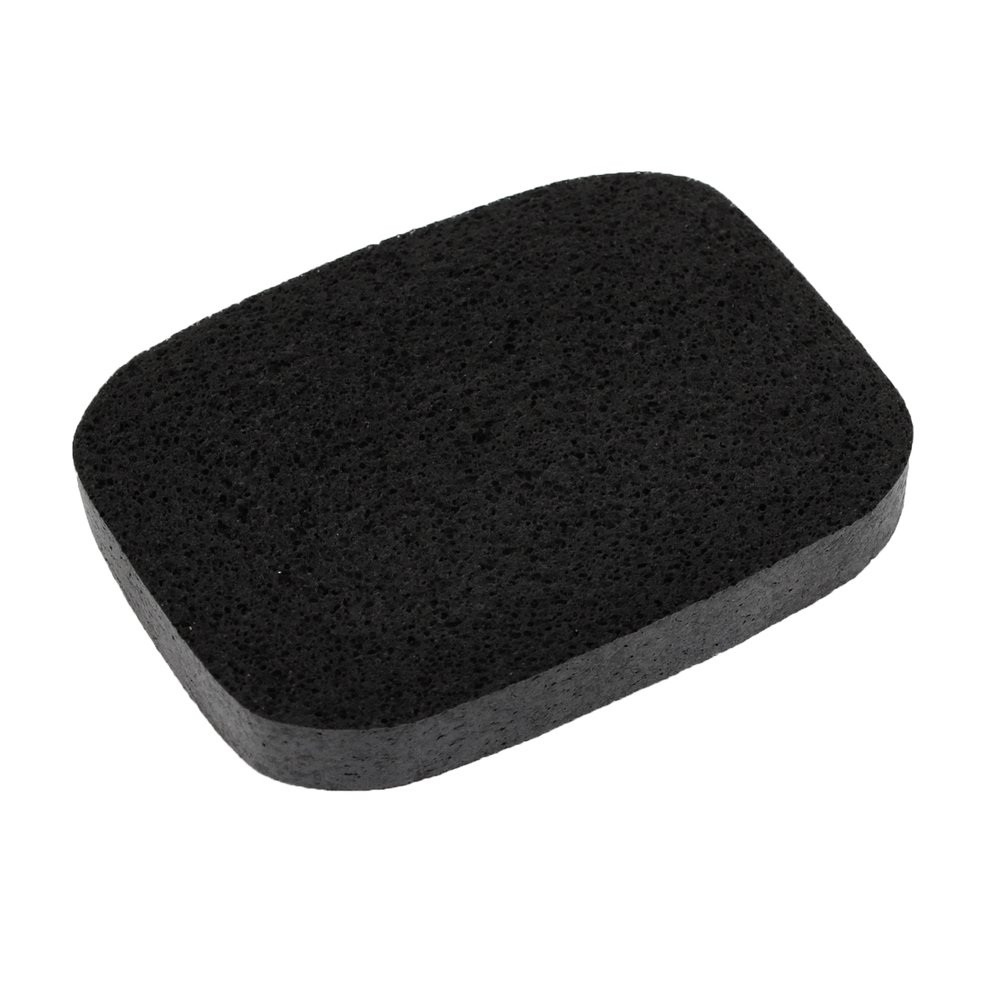 Woman Lady Makeup Removal Rectangular Shaped Facial Cleaning Sponge Black