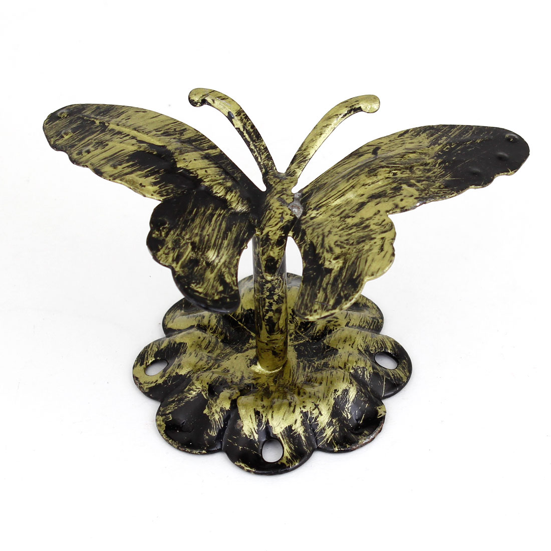 Household Bronze Tone Butterfly Shaped Metal Hook Towel Bag Hanging Wall Hanger