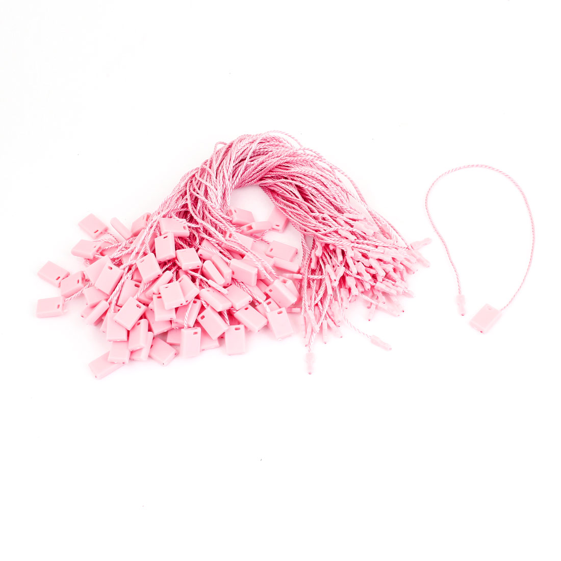 Plastic Clothes Content Label Rope Goods Price Tag Nylon Strip Pale Pink 100pcs