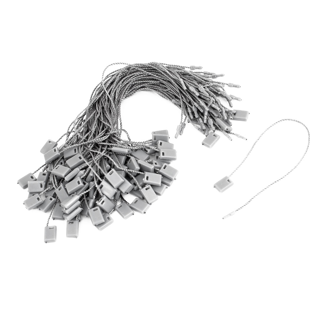 Gray Industrial Clothes Content Label Rope Goods Price Tag Nylon Strip 100PCS