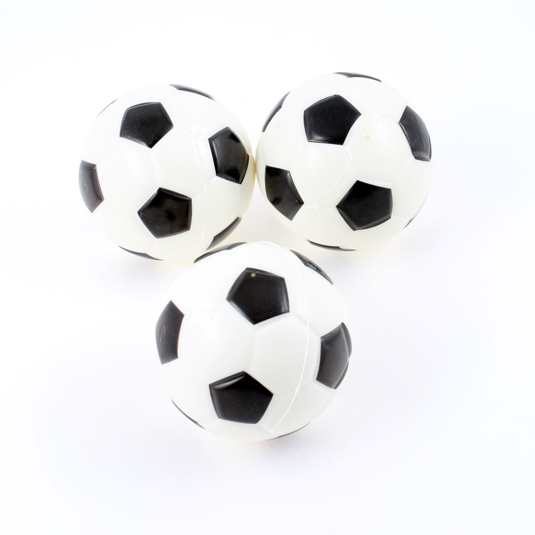 3 Pcs White Black Sponge Mini Football Playing Toy Gift for Children