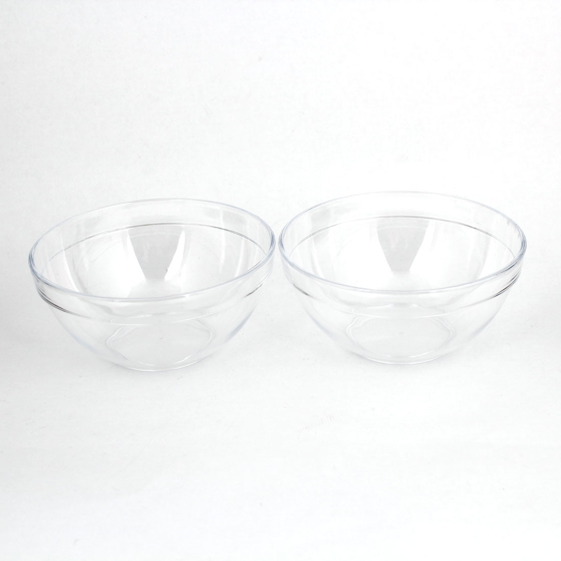 Women 9cm x 4.5cm DIY Facial Clear Plastic Mask Bowl Mixer Holder 2pcs