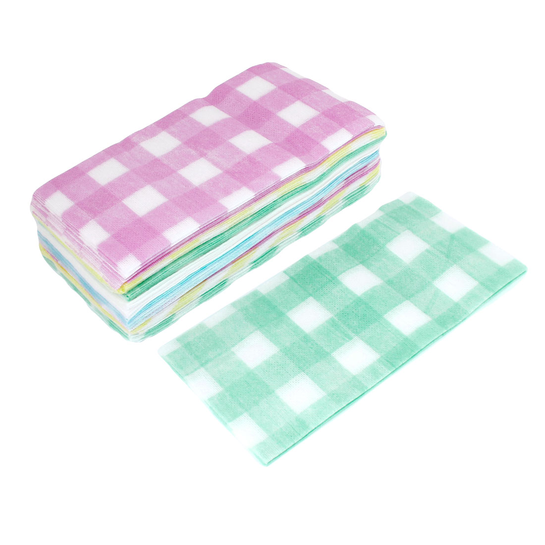 Lady Woman Multicolor Non-woven Cleaning Towel Beauty Tool 100pcs