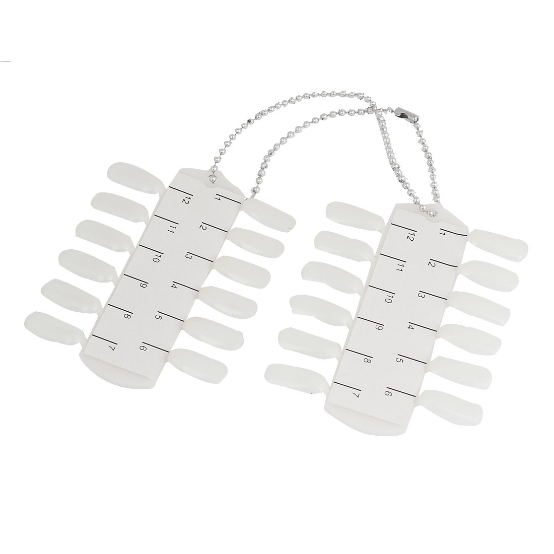 24 Pcs White Plastic DIY Fingernails Art Tip for Women