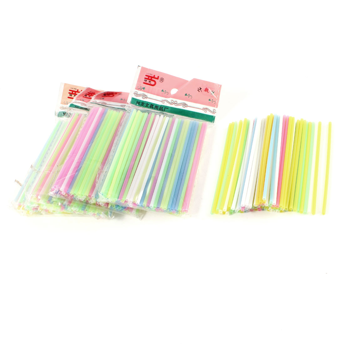 5 Packs Assorted Color Plastic Counting Sticks Educational Toy for Children