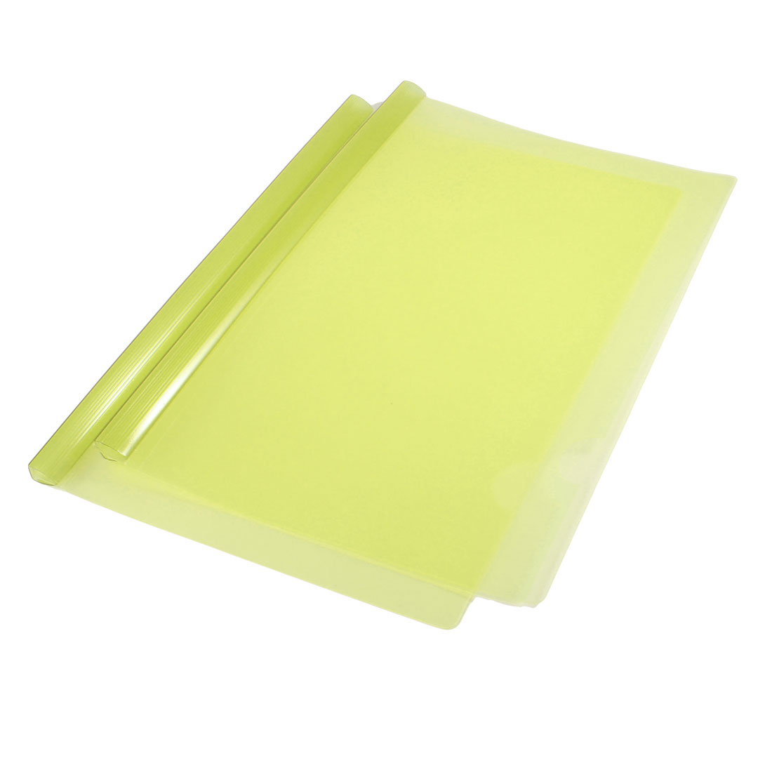 2 Pcs Slide Binder Bar Yellow Plastic File Folder Holder for A4 Papers