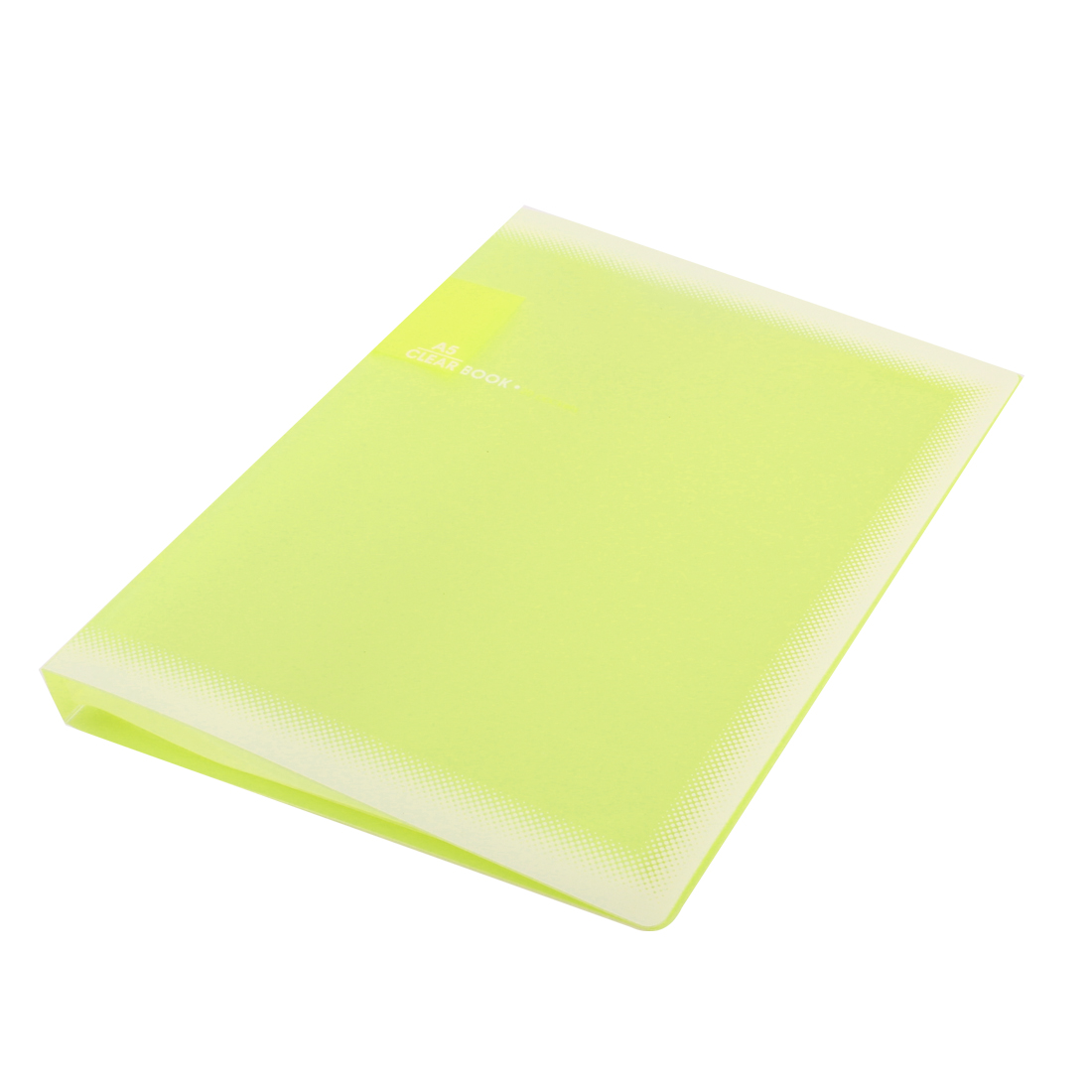 Yellow Plastic 20 Pockets File Book Document Folder Holder for A5 Paper