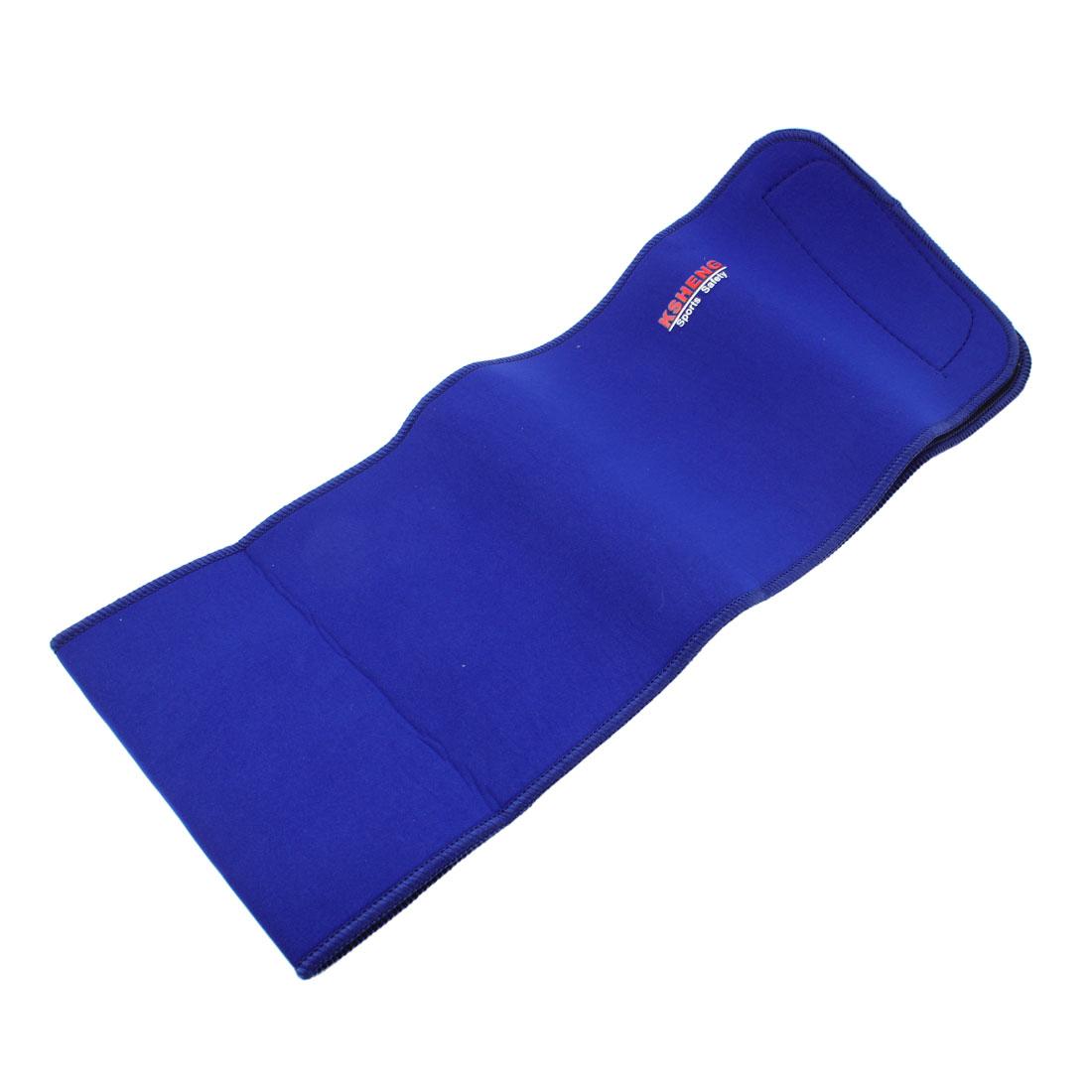 Black Lining Blue Neoprene Elastic Waist Support Band Wrap for Men Women
