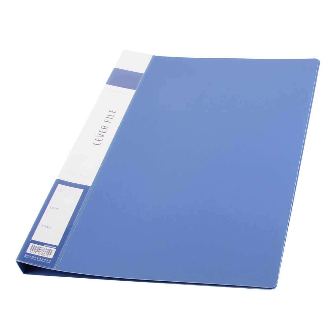 Metal Clip Binder Blue Plastic Document File Folder Holder for A4 Papers