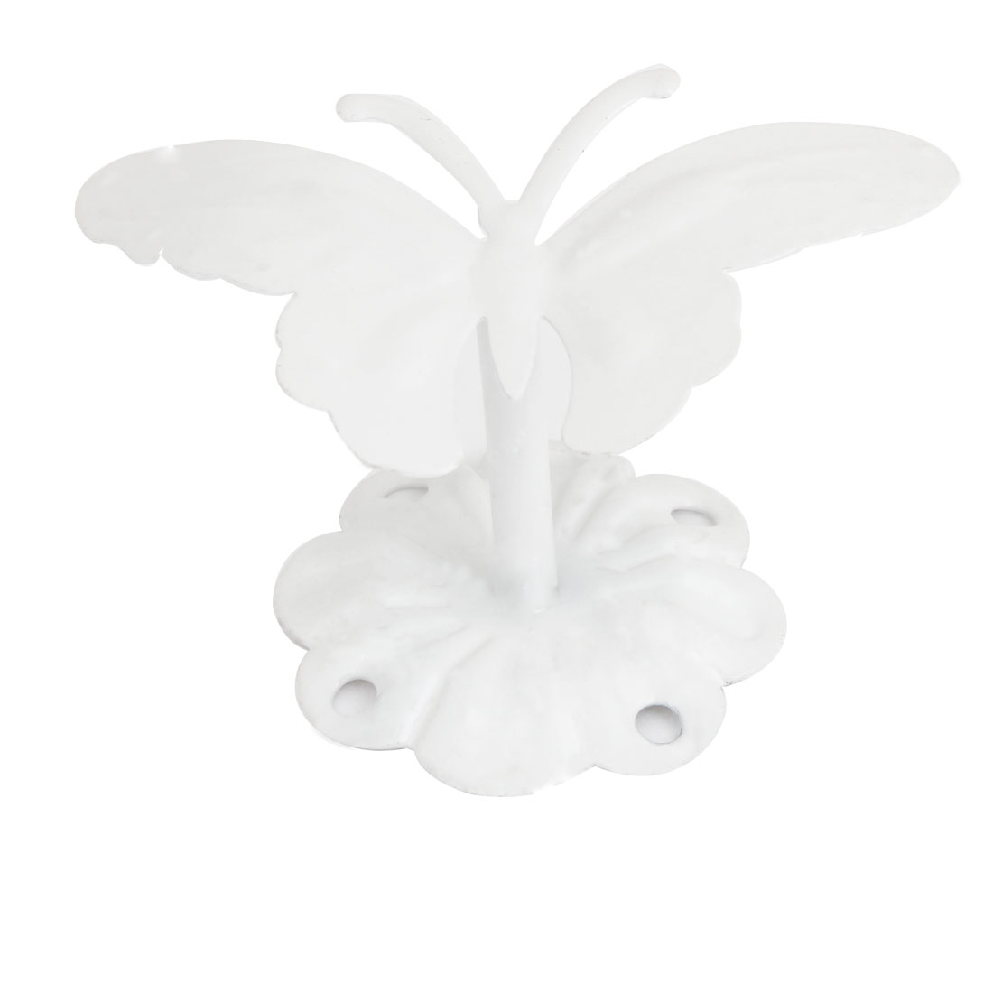 2.0kg Load Off White Butterfly Shaped Metal Wall Hook Hanging Hanger w Screws