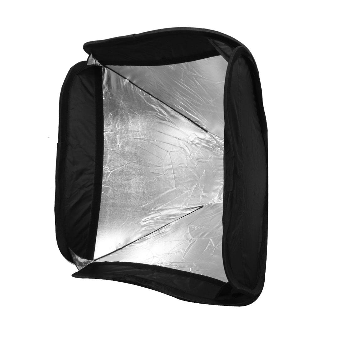 Black Flash Soft Box Diffuser 50cm x 50cm for Digital SLR Camera