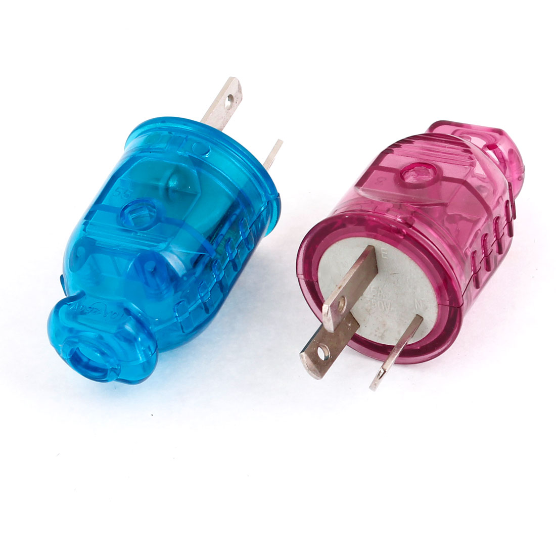 AU Plug AC 250V 10A 3 Terminals Rewirable Power Connector Head Blue Purple 2 Pcs