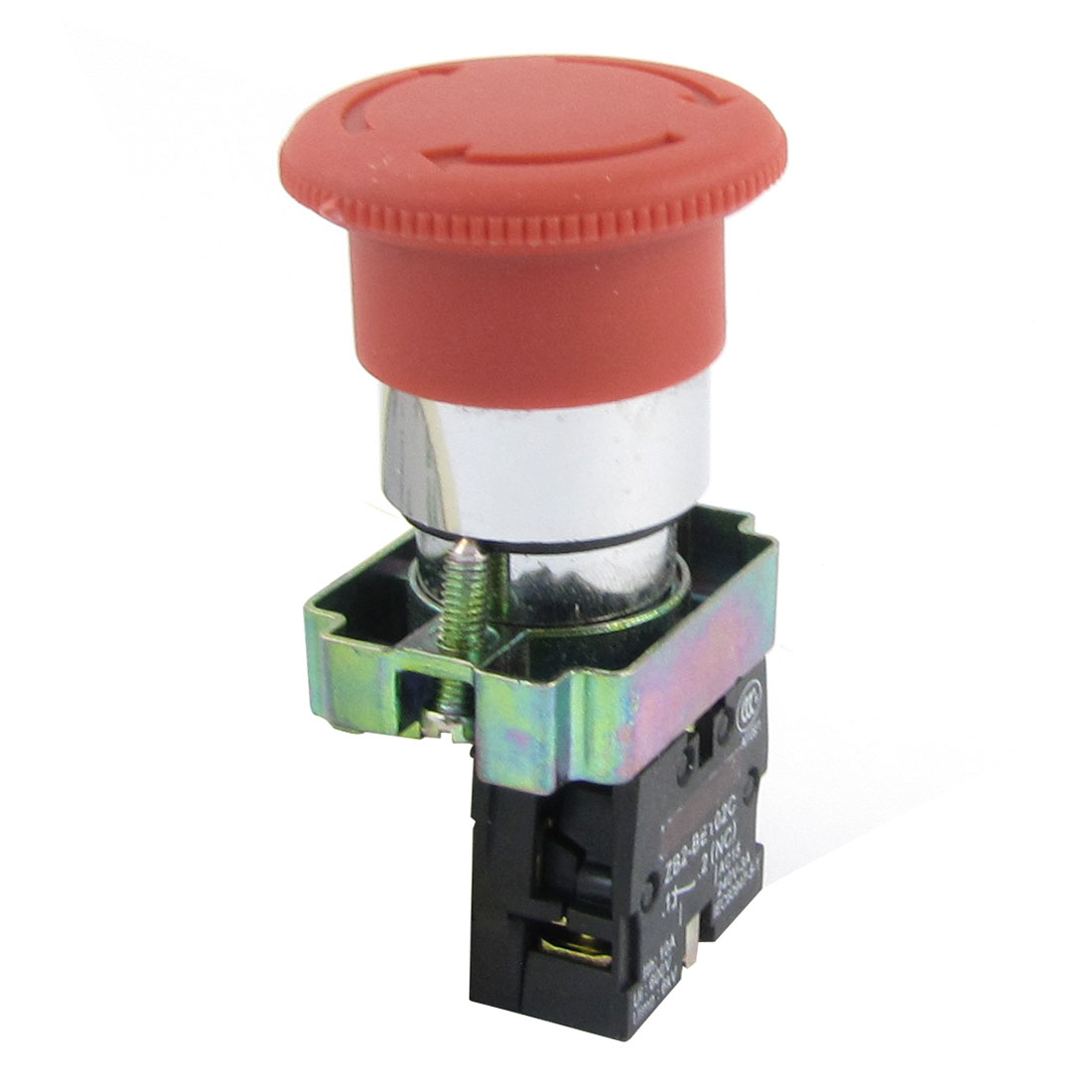 660V 10A 21mm Threaded Latching Red Mushroomhead Emergency Push Botton Switch