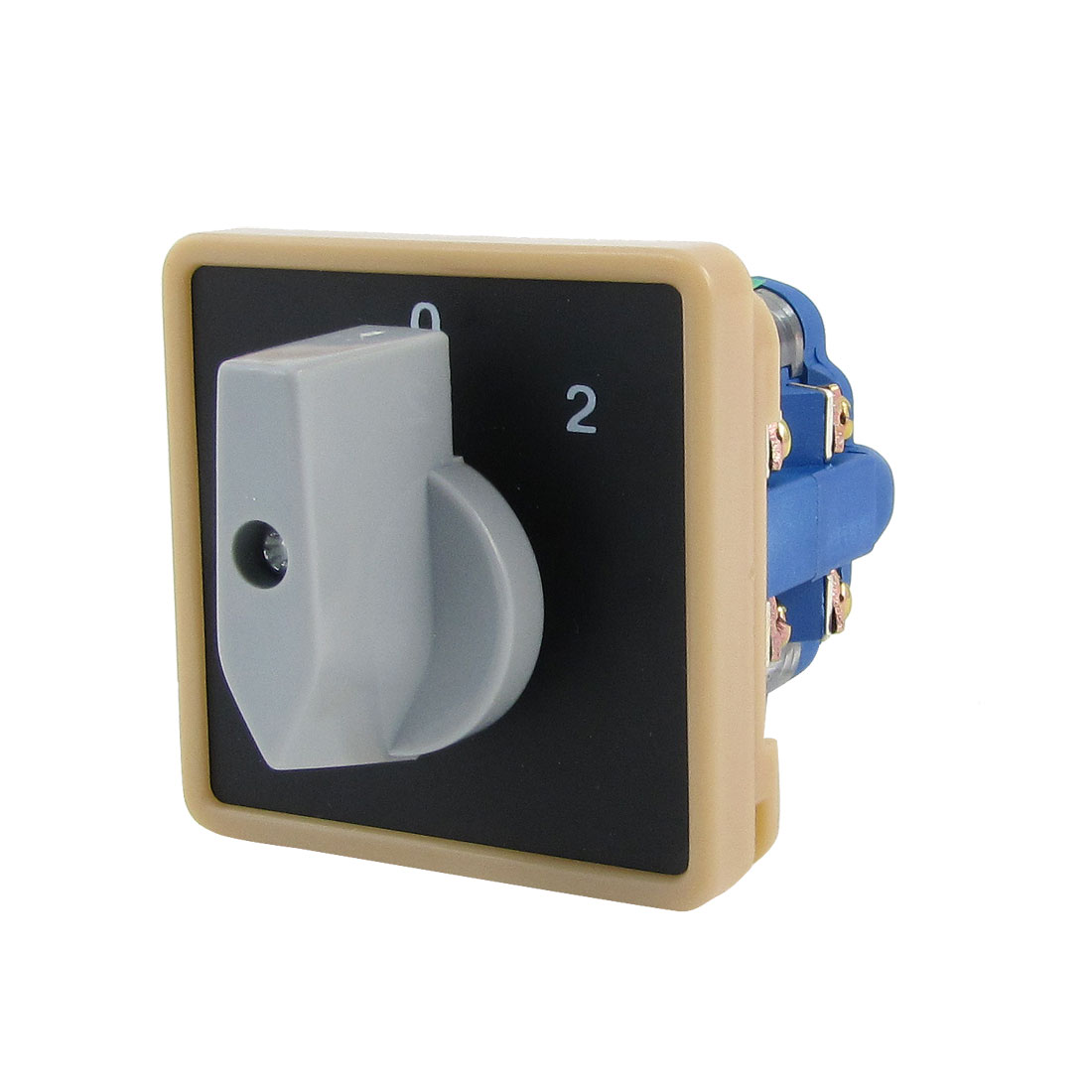ON/OFF/ON 8 Terminals Rotary Universal Changeover Switch 600V 20A