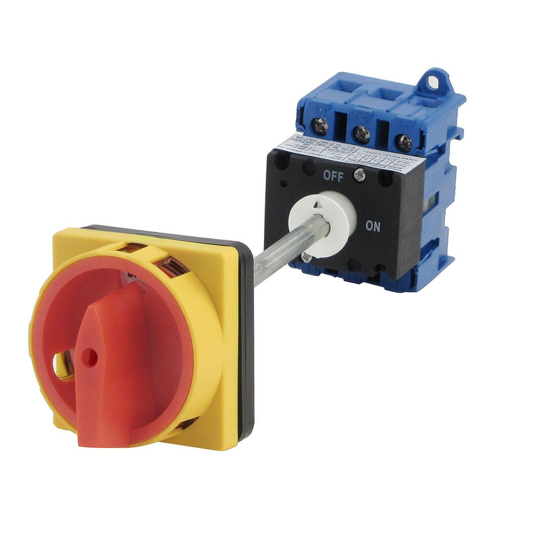 AC690V AC220V AC440V 380V 40A ON/OFF 6 Screw Terminals Rotary Changeover Switch