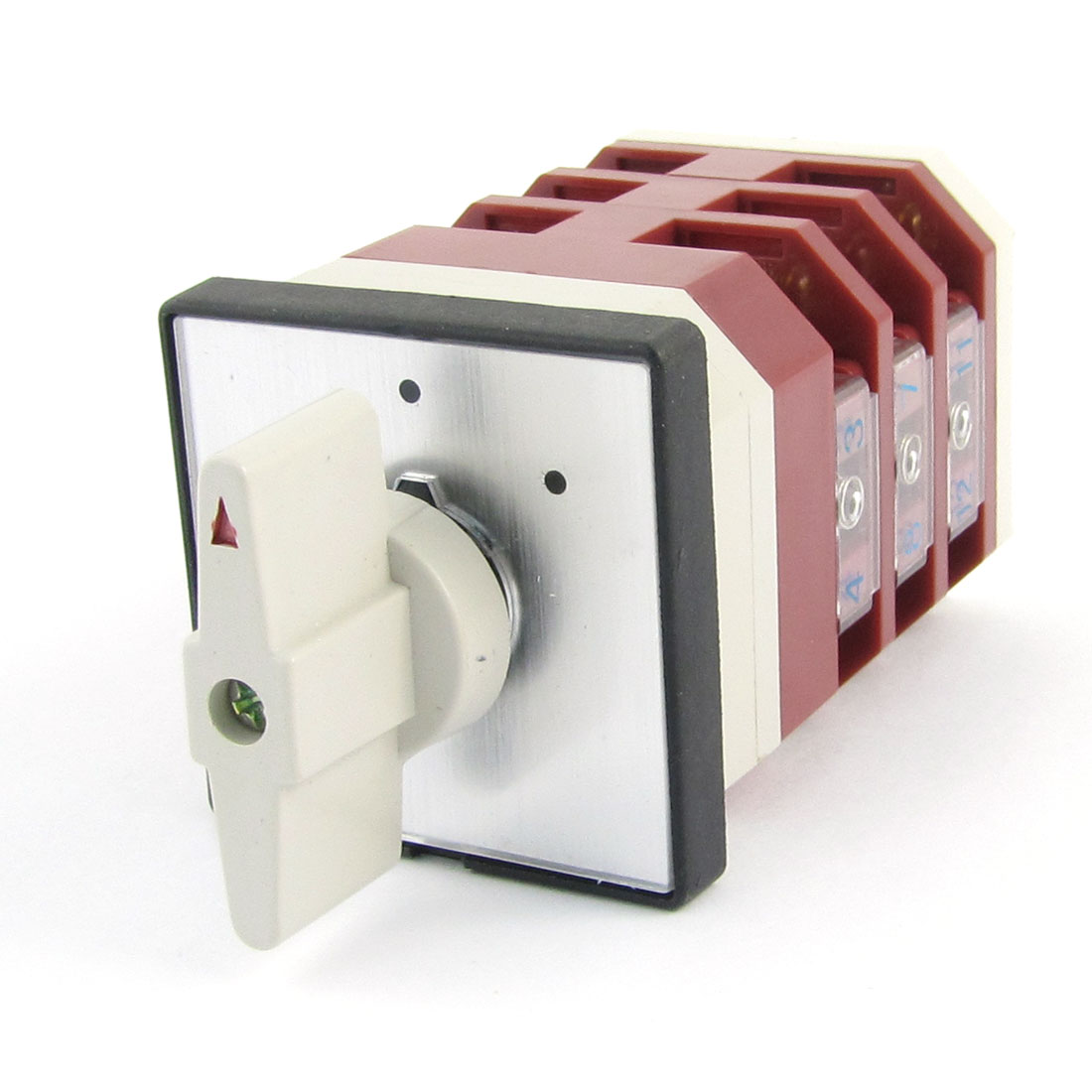 Ui500V Ith16A On-Off-On 12 Terminals 3 Position Universal Changeover Switch