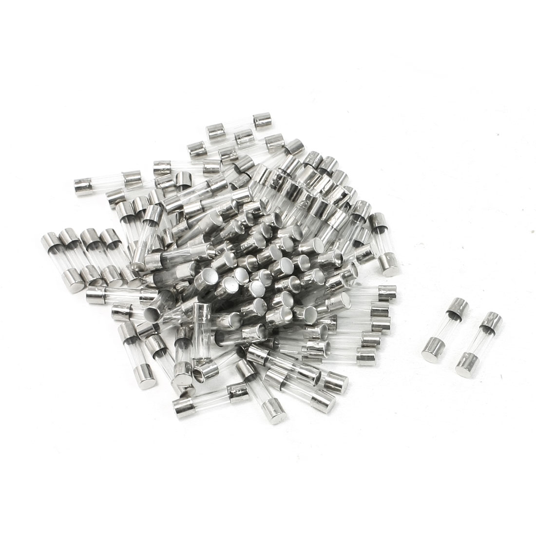 100 Pcs Fast Blow Cylinder Shape 5mm x 20mm Glass Tube Fuses 250V 4A Amp